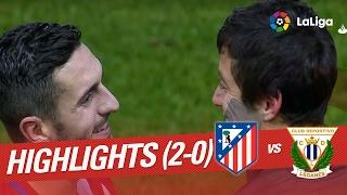 Resumen de Atlético de Madrid vs CD Leganés (2-0)