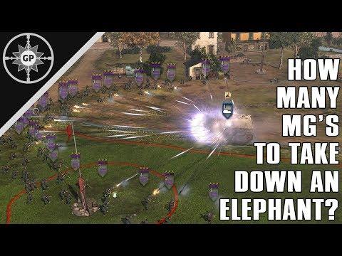 Can an MG's APR Kill an Elephant? - COH2 Challenge #7 |