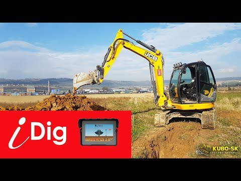 JCB 8085 Excavator | Testovanie Nivelácie IDig Touch 2D | IDig Excavator Grade Control