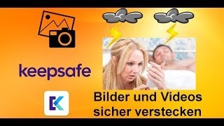 Bilder und Videos verstecken - App für Android/ios kostenlos Keepsafe (Erklärung/Tutorial) screenshot 2