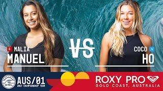 Malia Manuel vs. Coco Ho - Roxy Pro Gold Coast 2017 Round Two, Heat 5