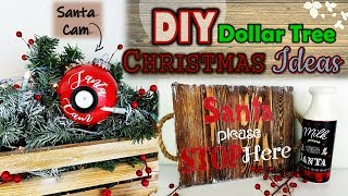 DOLLAR TREE DIY |  | SANTA CAM DIY | WOOD TRAY |CHRISTMAS IDEAS 2019