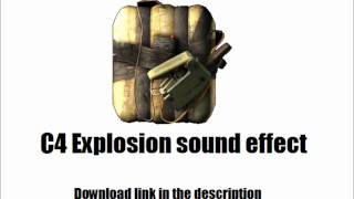 MW3: C4 Explosion sound effect (Download link in description)