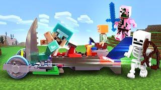 Майнкрафт видео сборник - Машинка для Стива и Алекс! Как победить мобов? Видео игры Майнкрафт Лего.