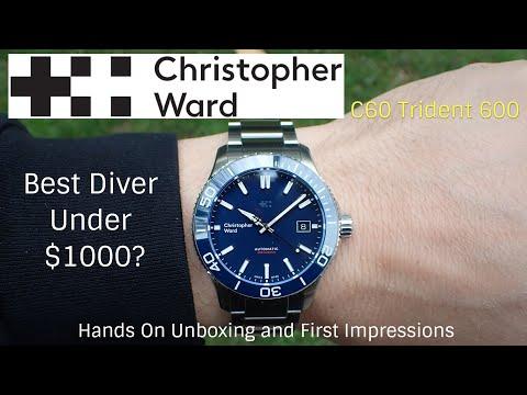 Best Swiss Dive Watch Under $1000? Christopher Ward C60 Trident 600 Dive Watch - Hands-on Unboxing