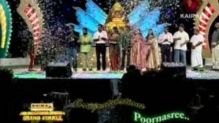 "Poornasree: selected the ""Best Female Singer award"" - Tharothsavam"