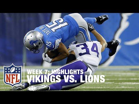 Vikings vs. Lions | Week 7 Highlights | NFL