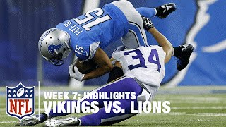 Vikings vs. Lions | Week 7 Highlights | NFL