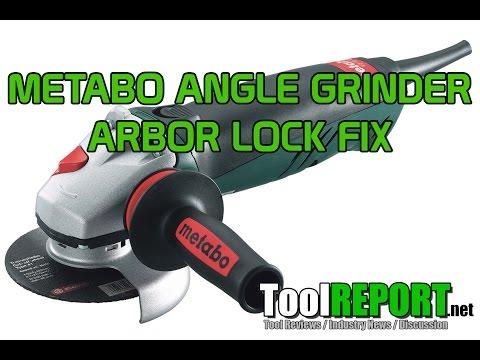 Metabo Angle Grinder Arbor Lock Fix Repair