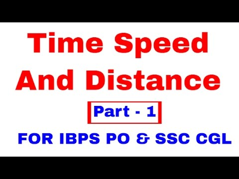 time speed distance based by study smart