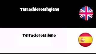 APRENDER INGLÉS = Tetracloroetileno