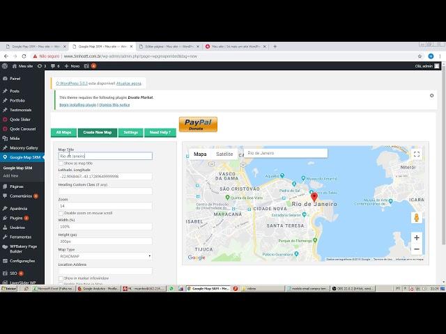 Plugin útil - Como colocar google maps no seu site wordpress