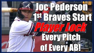 Joc Pederson - First Start With Braves Player Lock, Every Pitch of Every AB. Braves vs Rays 7/17/21