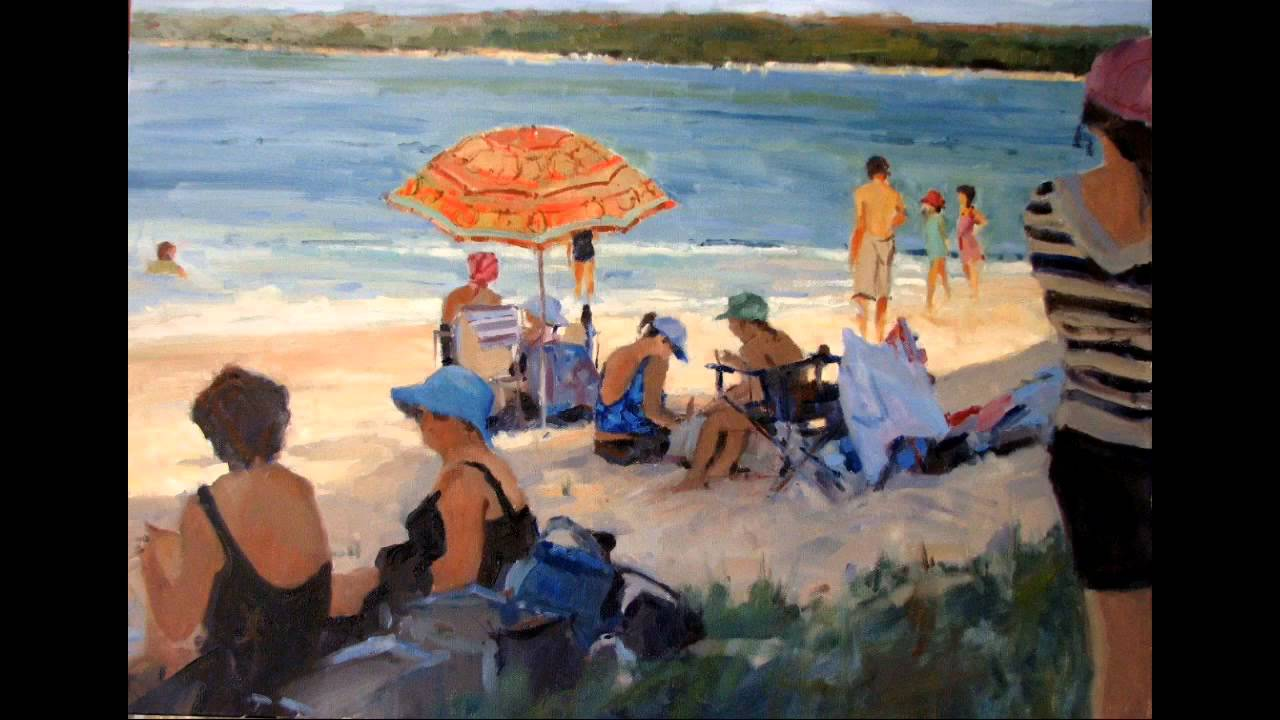 Ros Psakis A Painting Demonstration Of A Beach Scene Youtube