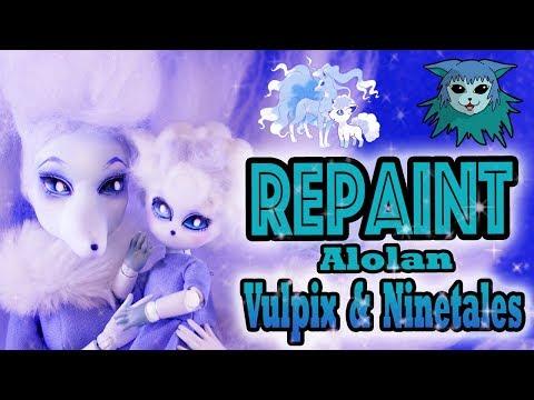 Doll Repaint: Pokemon Alolan Vulpix and Ninetales Pokemon Video game Collaboration