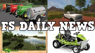 MILLENNIAL FARMER MAP, RIDING LAWNMOWER, PLUS MODS IN TESTING | FS DAILY NEWS | Farming Simulator 19
