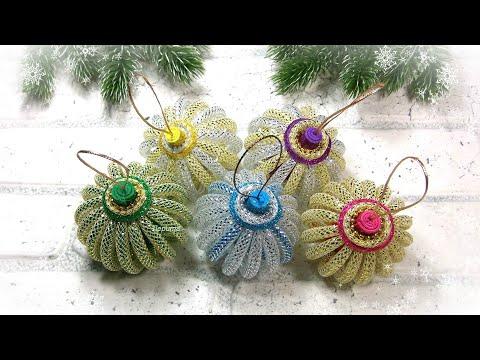 Воздушные ёлочные игрушки 🎄 своими руками 🎄 Diy Christmas Ornaments