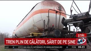 Tren deraiat din cauza alunecărilor de teren