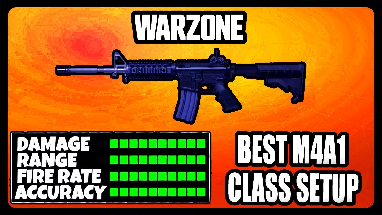 NEW OVERPOWERED M4A1 CLASS SETUP IN WARZONE! BEST M4A1 CLASS SETUP!