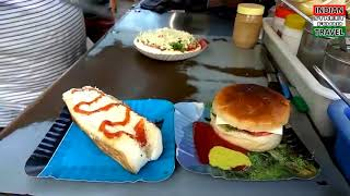 BEST OF INDIAN STREET FOOD,INDIAN PIZZA,BURGER AND HOT DOGS,IN HINDI