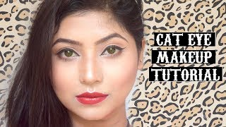 Cat Eyeliner Makeup Tutorial In Hindi|Simple Everyday Makeup For Beginners
