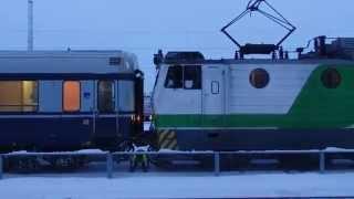 フィンランド国鉄急行 電気機関車連結 VR Express train coupled together