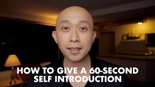 How to Give a 60 Se¢ond Self-Introduction Presentation