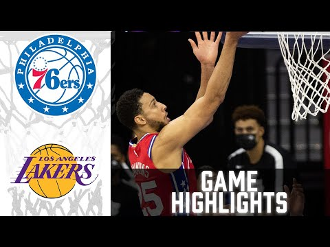 76ers vs Lakers HIGHLIGHTS Full Game   NBA March 25