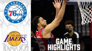 76ers vs Lakers HIGHLIGHTS Full Game | NBA March 25