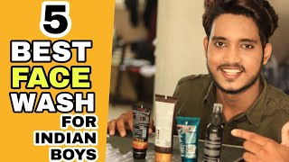TOP 5 FACEWASH FOR BOYS AND MEN IN INDIA | NON SPONSORED