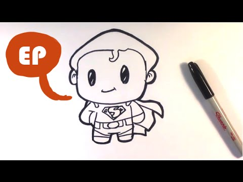 How To Draw Cute Superman Easy Pictures To Draw Youtube