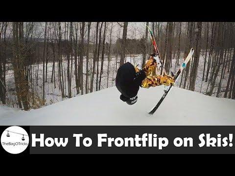 HOW TO FRONTFLIP ON SKIS! (Ninja Flip)
