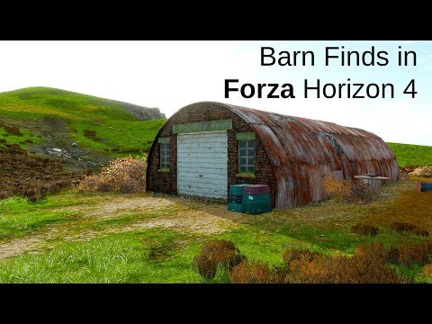 Locations Of The Barn Finds In Forza Horizon 4