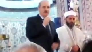 AKP'li Numan Kurtulmuş cami içinden propaganda yaptı