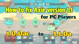 How to fix Aאie Infinity ver 1.0.0ac and 1.1.0a (for PC players)
