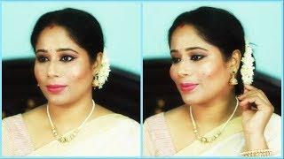Onam Makeup Look 2018 Indian Festive Makeup || Beauty with Lakshmi