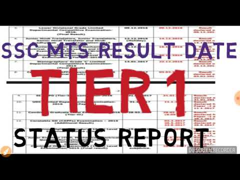 Ssc mts tier 1 result