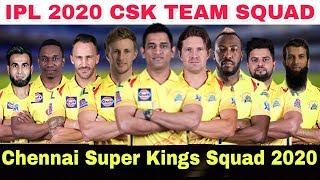 Vivo IPL 2020 Chennai Super Kings Full Team Squad   Csk Squad 2020   CSK Player List