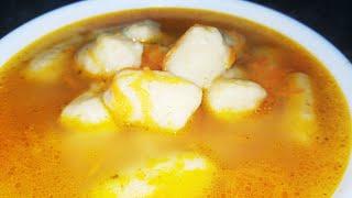 Суп с клецками НА ЗАВАРНОМ ТЕСТЕ