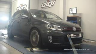 VW Golf 6 gti 211cv DSG Reprogrammation Moteur @ 250cv Digiservices Paris 77 Dyno
