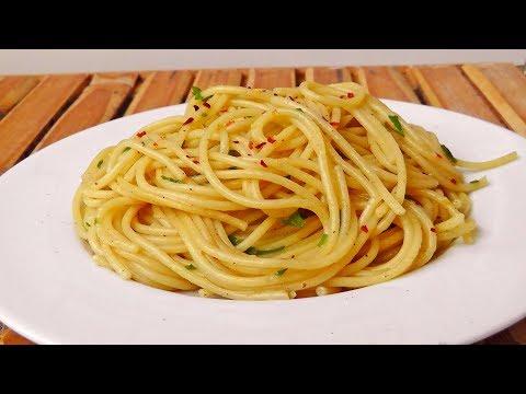 Italian Spaghetti Aglio e Olio Recipe – Vegan Vegetarian