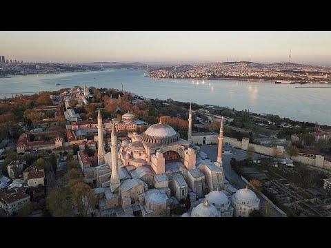 إردوغان يعلن فتح آيا صوفيا أمام المسلمين لأداء الصلاة