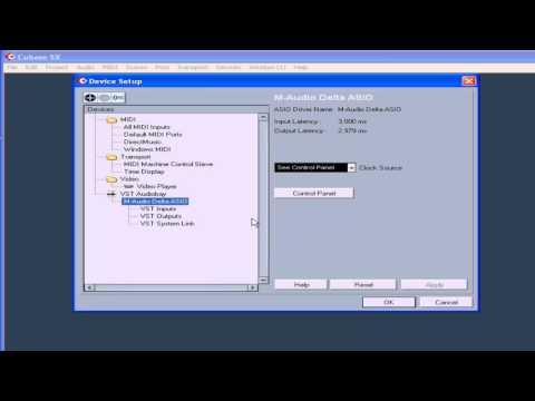 Cubase SX 3 Tutorial - Lesson 03:  MIDI & Audio Setup