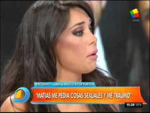 Sabrina Ravelli: Los gustos sexuales de Matías (Alé) me traumaron