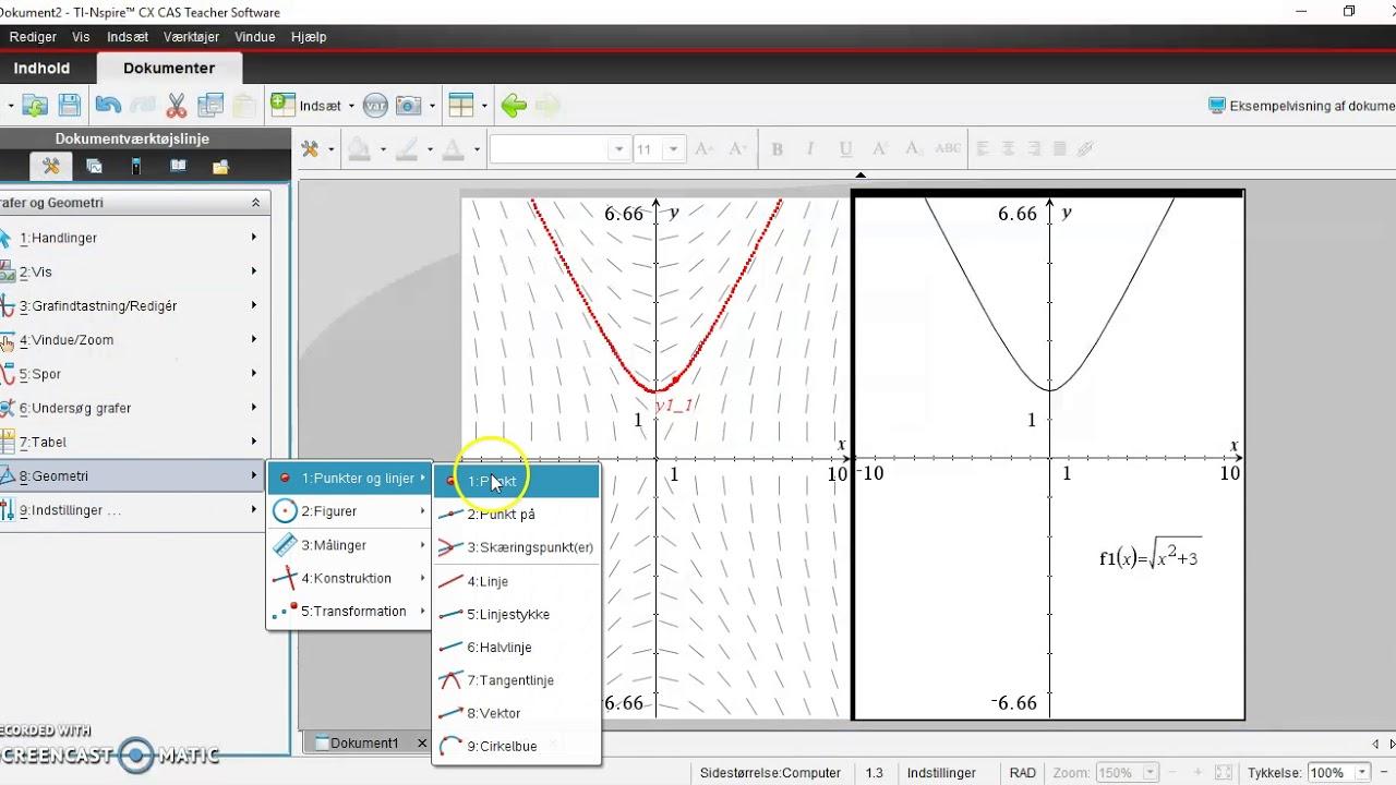 Differentialligninger med TInSpire 1.  Desolve og linjeelementer