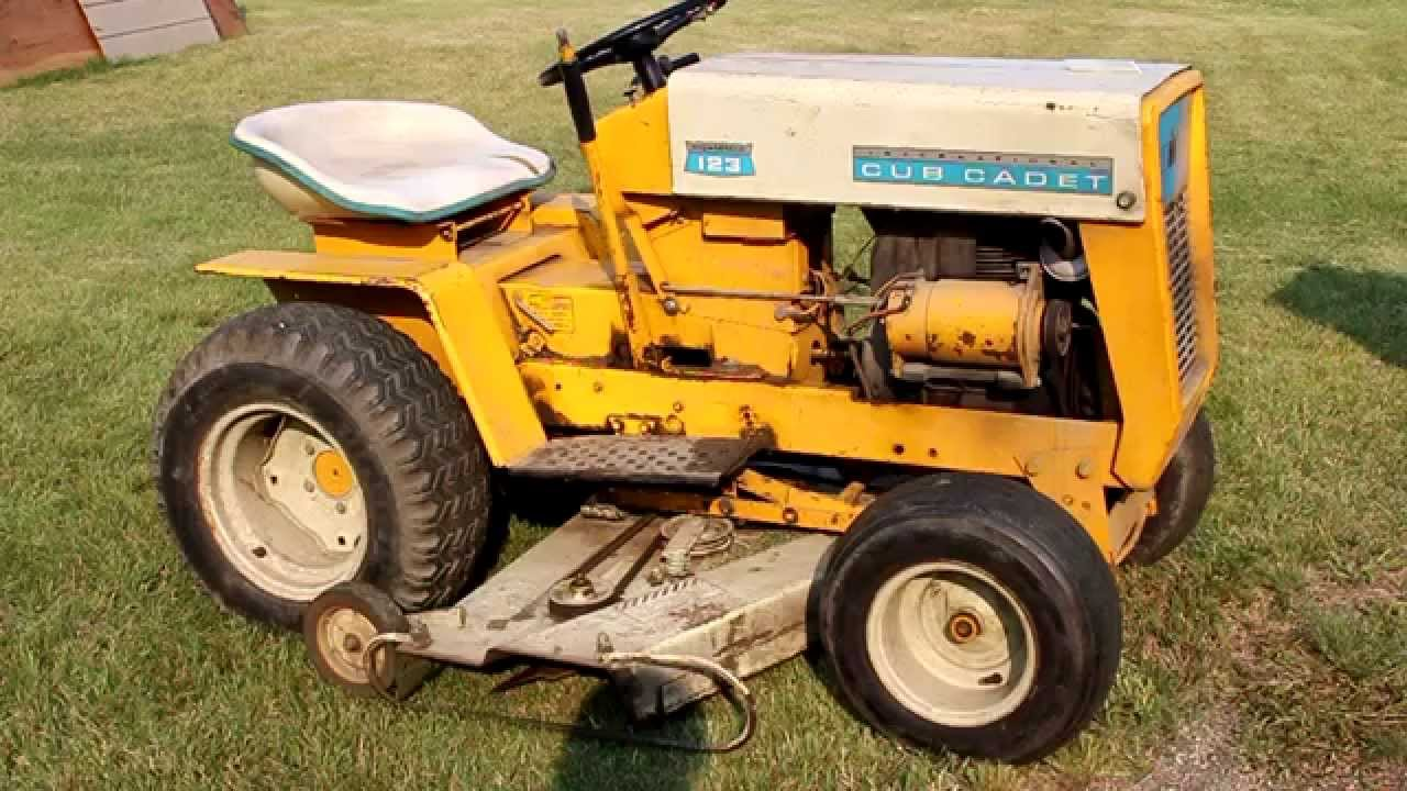 hight resolution of starting ih cub cadet 123 after 12 years youtube