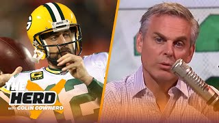 Colin acts out how he thinks Aaron Rodgers' 1st post-draft press conference will go | NFL | THE HERD