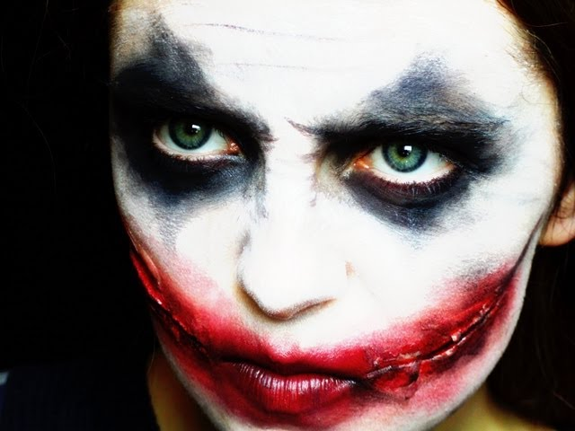 maquillage halloween joker homme