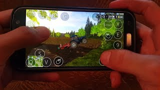 Farming simulator 2017 on android(samsung galaxy s7)hof bergmann map.Cultivating field 1