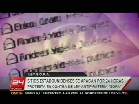 """Wikipedia lideró apagón virtual contra polémica ley """"SOPA"""" - 24 HORAS TVN 2012"""